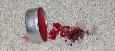 wax in carpet